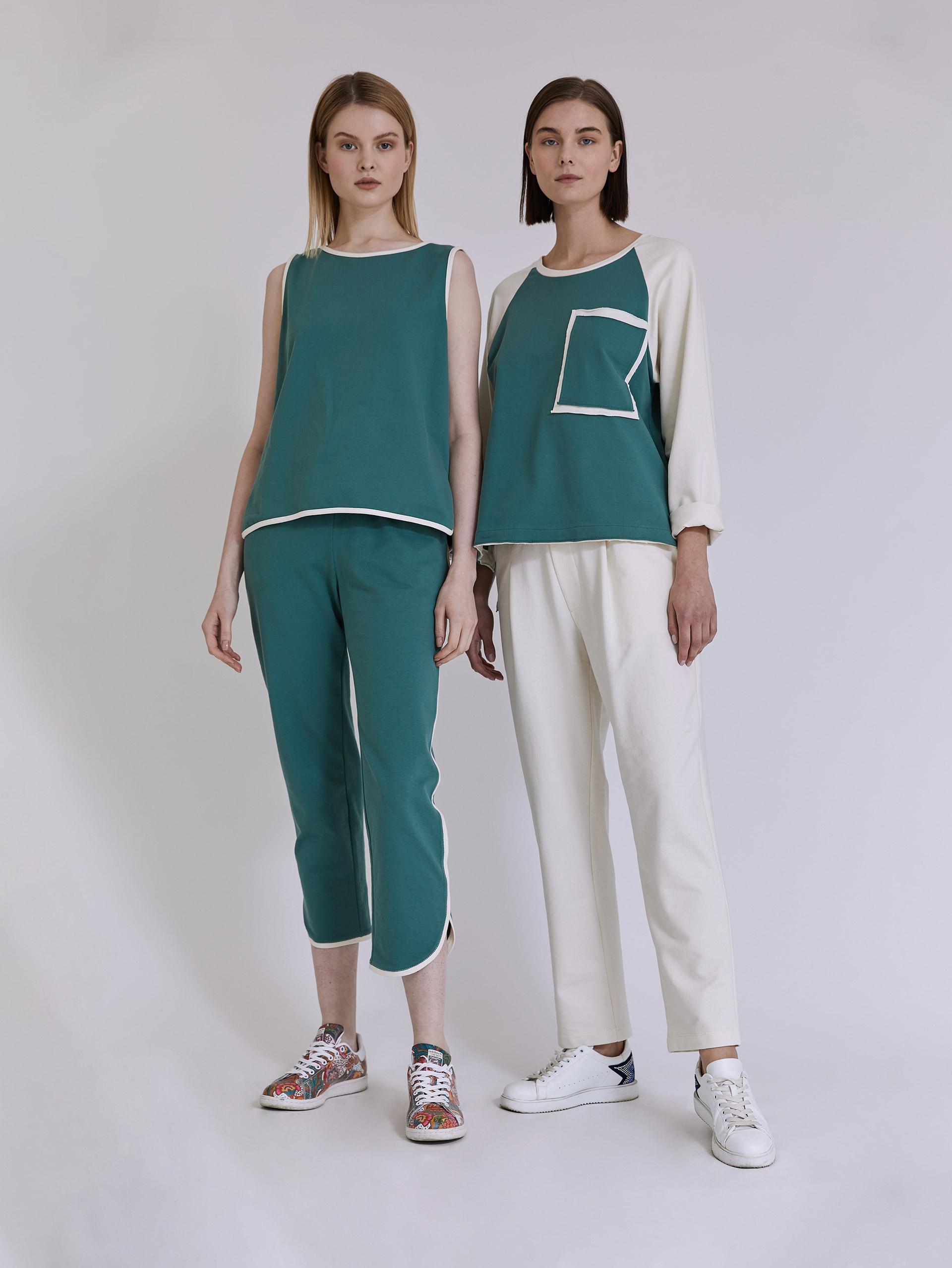 Αμάνικη μπλούζα φούτερ