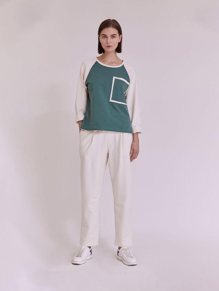 Μπλούζα φούτερ με τσέπη