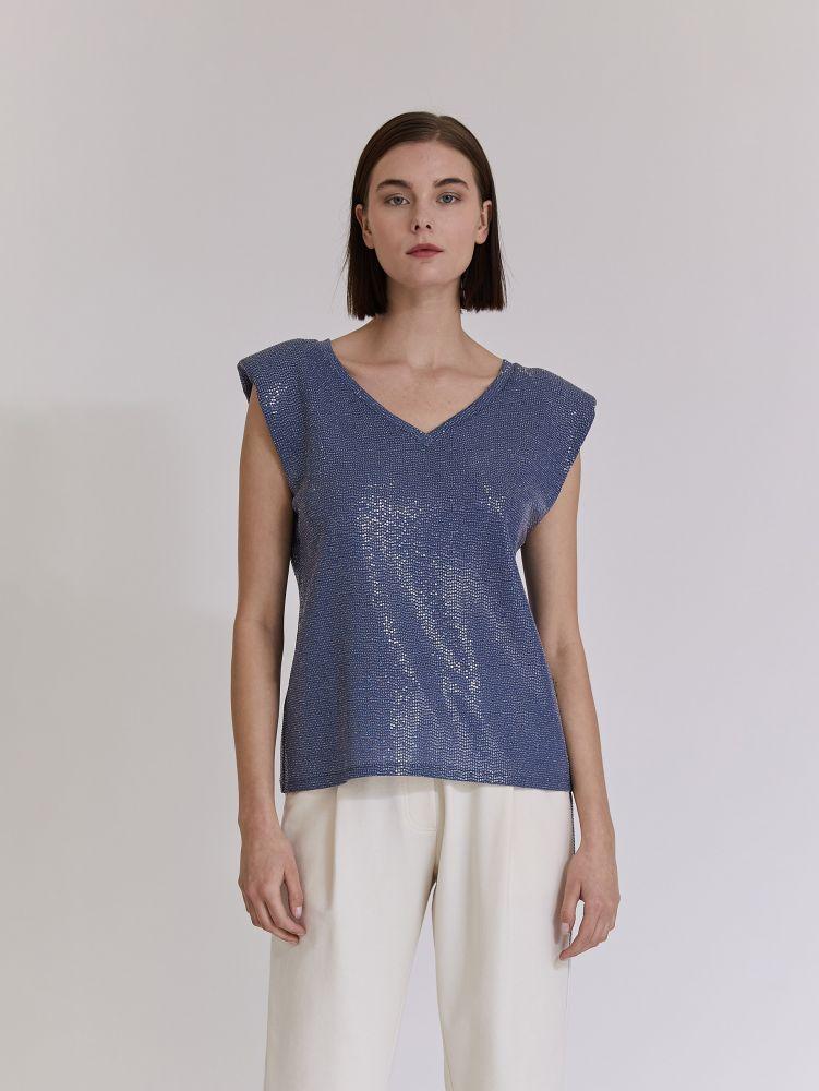 Αμάνικη μπλούζα με βάτες